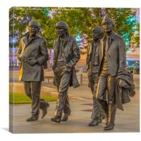 A walk with the Beatles, Canvas Print