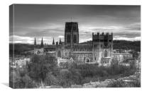 Durham Cathedral monochrome HDR, Canvas Print