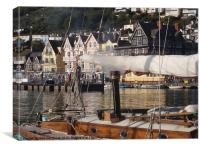 Old yacht on the Dart, Canvas Print