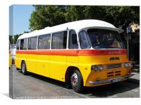Classic Leyland Bus, Canvas Print