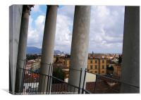 View From Leaning Tower Pisa, Canvas Print