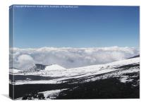 The Summit of Mount Etna, Canvas Print