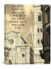 Travel To Embrace Life, Canvas Print