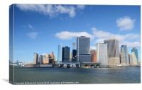 Manhattan From The Water, Canvas Print