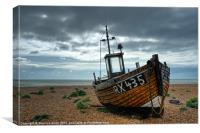 Fishing Boat at Dungeness, Kent, Canvas Print