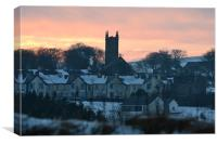 Sunset over Princetown, Canvas Print