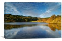 UK,South Yorkshire,Peak District,Rivelin Dams, Canvas Print