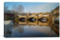 Norfolk Bridge & River Don, Sheffield, Canvas Print