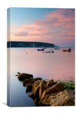 Looking across Swanage Bay, Dorset, Canvas Print