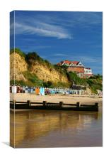 Grand Hotel & Beach Swanage, Canvas Print