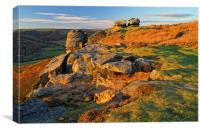 Sunset over Froggatt Edge, Canvas Print