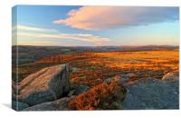 Curbar to Froggatt Edge, Canvas Print