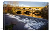 Norfolk Bridge and Burton Weir, Canvas Print