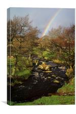Rainbow over Burbage Brook, Canvas Print