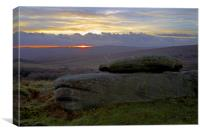 Sunset from Burbage Rocks, Canvas Print