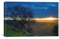 Longshaw Sunset, Canvas Print