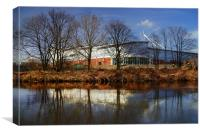 New York Stadium, Rotherham & River Don, Canvas Print