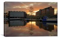 Victoria Quays Sunset, Sheffield, Canvas Print
