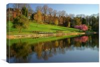 Crookes Valley Park Reflections, Canvas Print