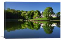 Crookes Valley Park Mirror Image, Canvas Print