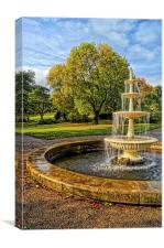Sheffield Botanical Gardens Fountain, Canvas Print