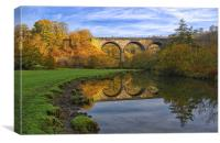 Headstone Viaduct & River Wye at Monsal Dale, Canvas Print