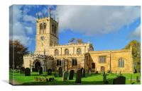 St Peters Church, Conisbrough, Canvas Print