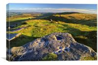View from Higger Tor Towards Stanage Edge, Canvas Print