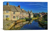Swanage Mill Pond & Cottages, Canvas Print