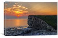 Nash Point Sunset , Canvas Print
