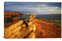 Bamford Edge , Canvas Print