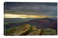 Bamford Edge and Hope Valley , Canvas Print