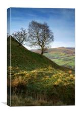 Back Tor Nook and Vale of Edale , Canvas Print