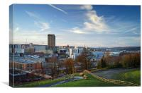 Sheffield Skyline from Cholera Monument , Canvas Print