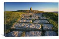 Mam Tor Summit , Canvas Print
