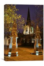 Sheffield Cathedral at Night , Canvas Print