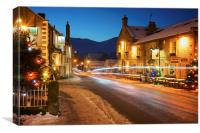 Christmas in Castleton , Canvas Print