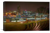 Sheffield City Centre at Night , Canvas Print