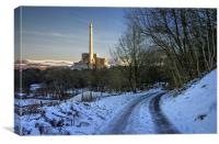 Lafarge Cement Works in Hope, Derbyshire , Canvas Print