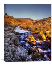 Burbage Brook & Carl Wark, Canvas Print