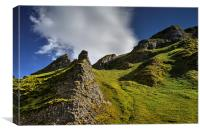 Limestone Pinnacles, Winnats Pass , Canvas Print