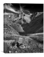 Winnats Pass in Mono, Canvas Print