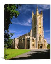 Holy Trinity Church, Exmouth, Canvas Print