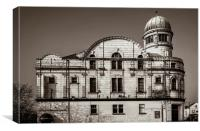 Abbeydale Picture House in Sepia , Canvas Print
