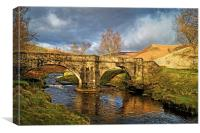 Slippery Stones Bridge , Canvas Print