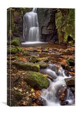 Lumsdale Falls in Autumn , Canvas Print