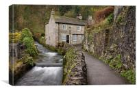 Peakshole Water in Castleton, Canvas Print