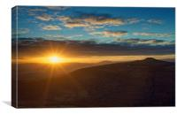 Sunset from Bamford Edge, Canvas Print