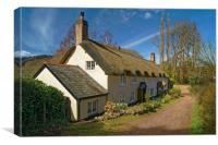 Dunster Cottage                       , Canvas Print