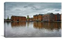 Gloucester Docks and Cathedral                   , Canvas Print